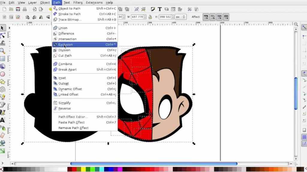 Spider-Senses in Inkscape