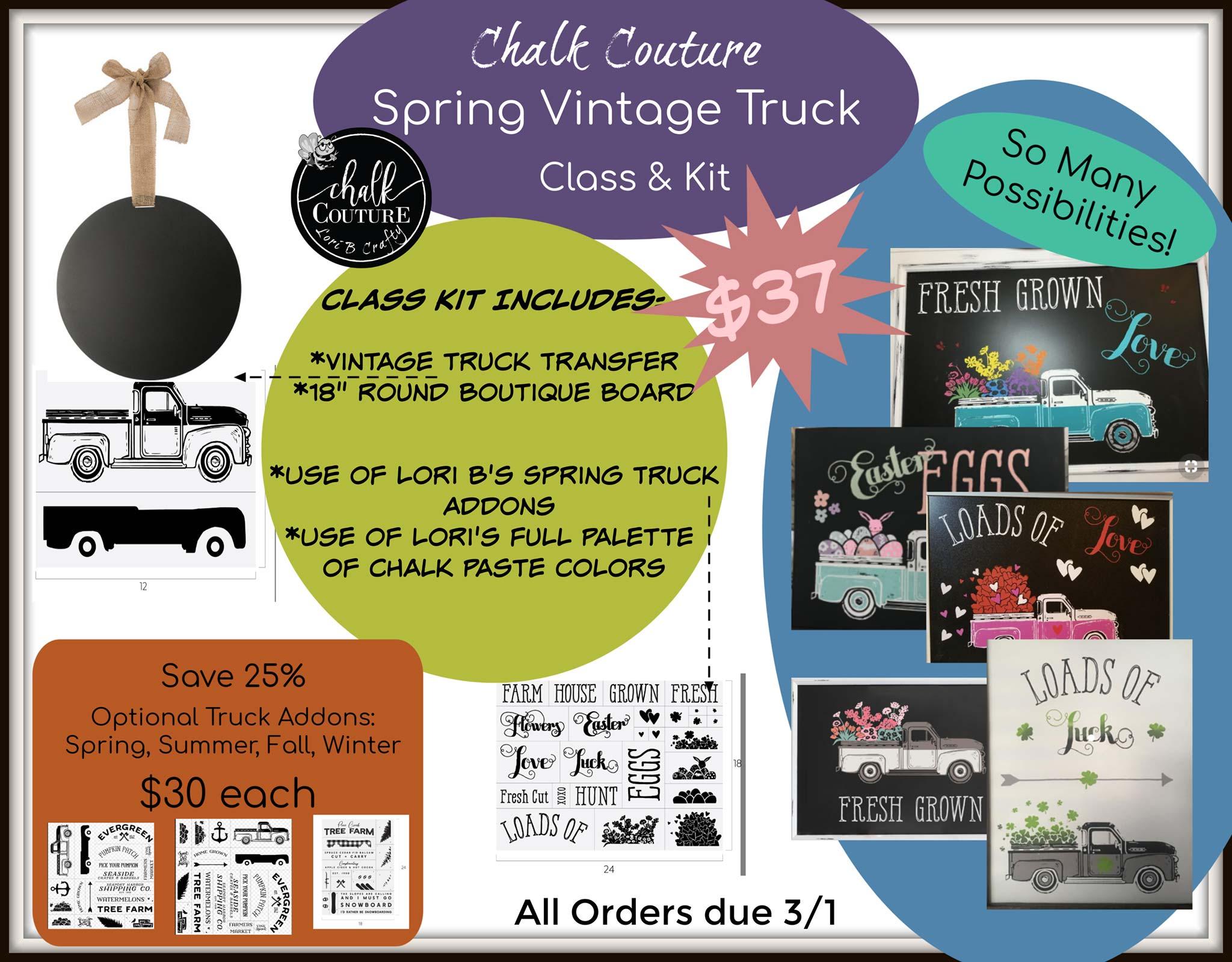 Chalk Couture – Vintage Truck Class