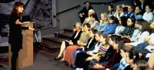 """In 1998, Janese Swanson, at the time a computer game developer, delivered a talk to an audience of girls and teachers for The Smithsonian in the Washington, DC area. Her presentation was entitled """"Beyond the Pink and Fluffy."""""""