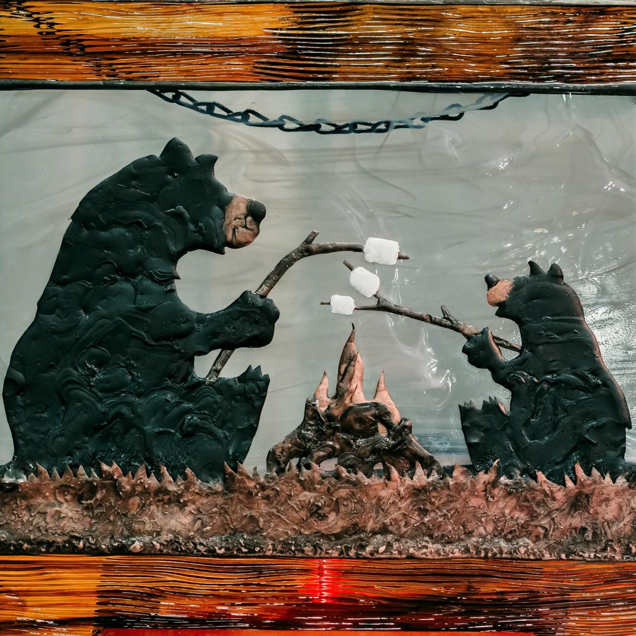 Stained Glass Bears Roast Marshmallows