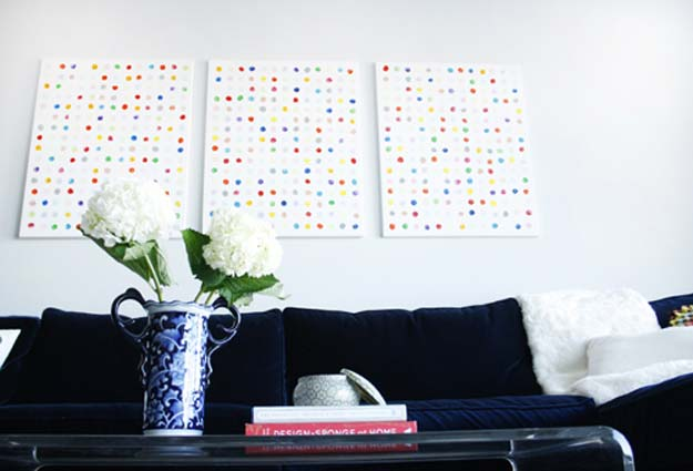 DIY Happy Dots Wall Art