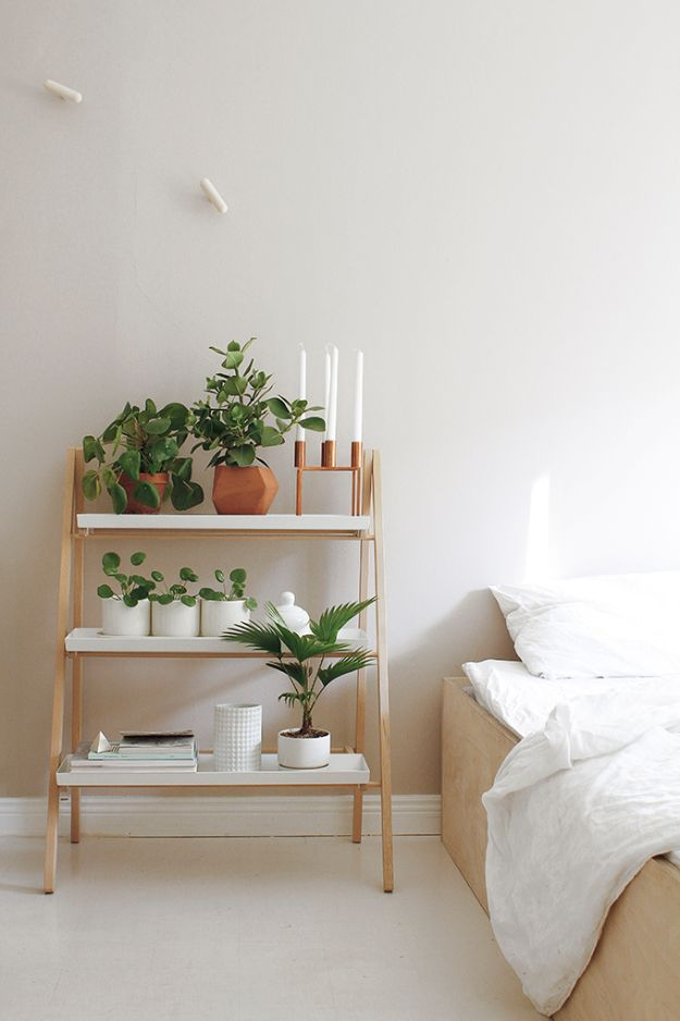 Ladder Planter Side Table