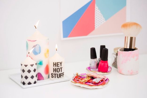 Easy Patterned Candles