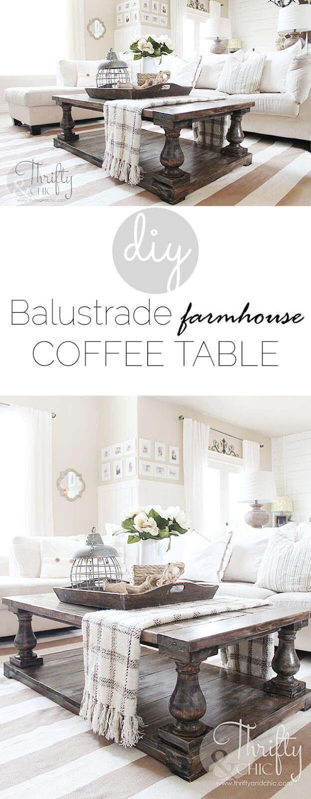 15 Easy Farmhouse Style DIY Coffee Table Style Motivation
