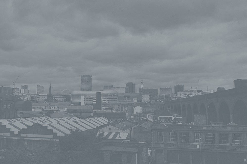 A picture overlooking Digbeth to Birmingham City Centre.