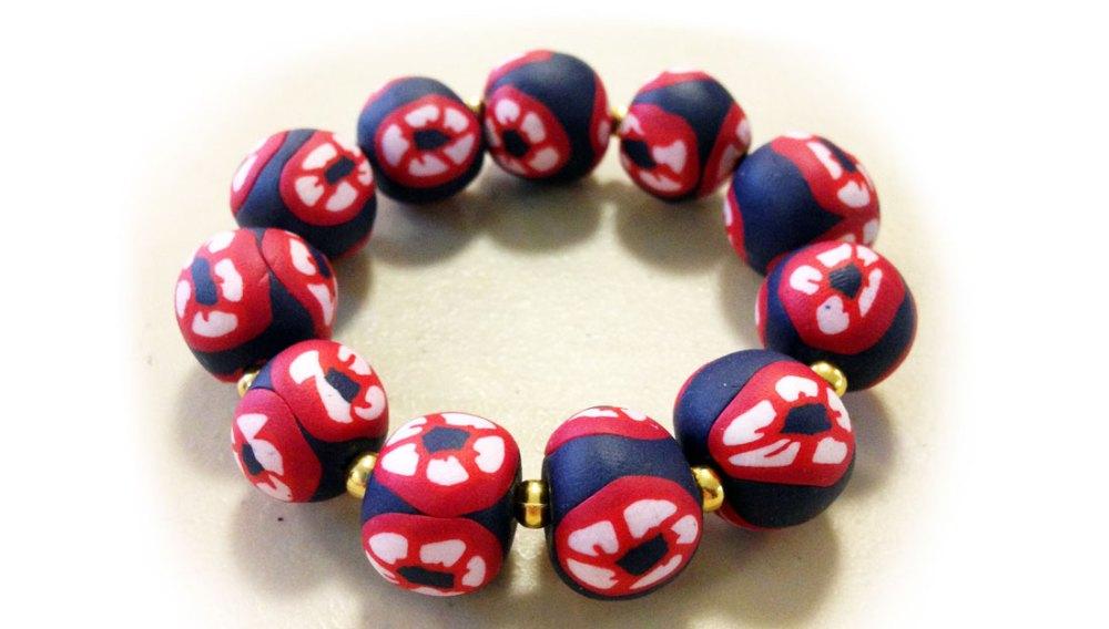 Bracelet made using milliefiori.