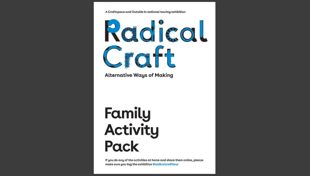 Image showing the cover of the family activity pack which accompanied the Radical Craft Touring Exhibition