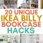 20 Unique Ikea Billy Bookcase Hacks Craftsy Hacks