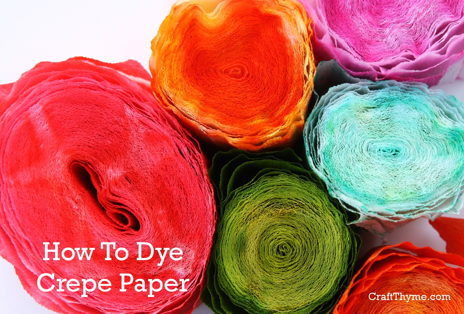 How to Dye Crepe Paper