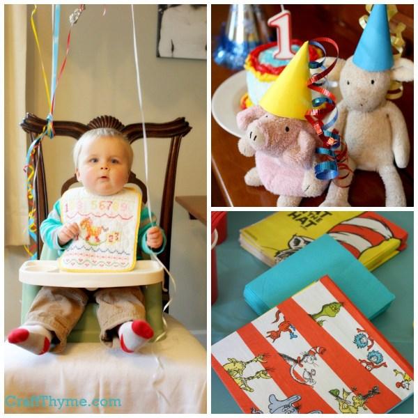 Dr Seuss themed first birthday