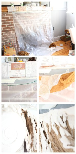 Process to make a rotting flesh garland