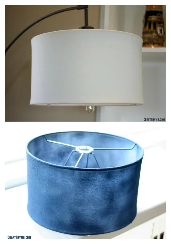 Spray painting a fabric lampshade