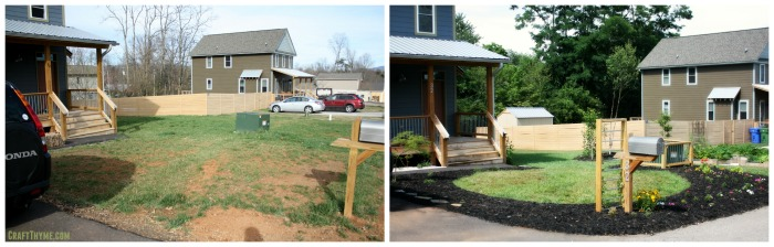 Before and after of yard