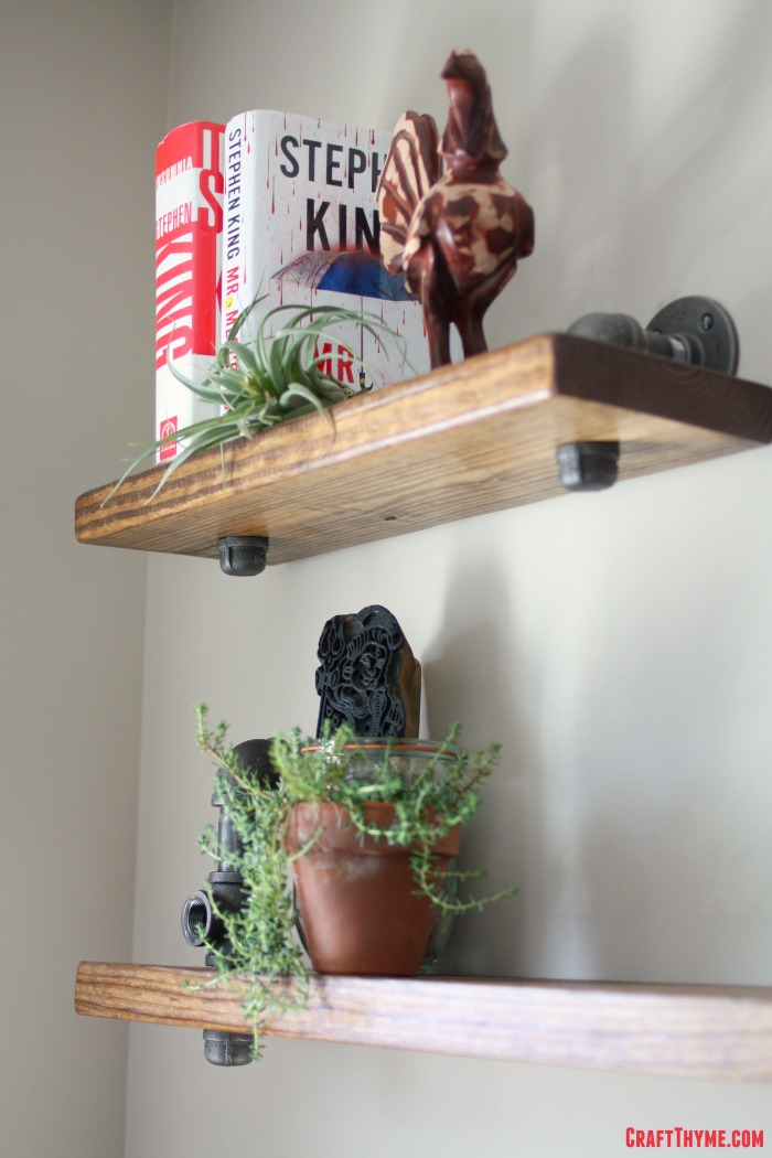 DIY pipe shelf tutorial with directions