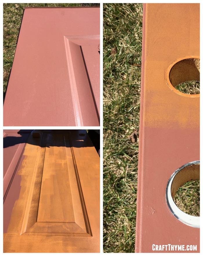 How to paint an orange front door.