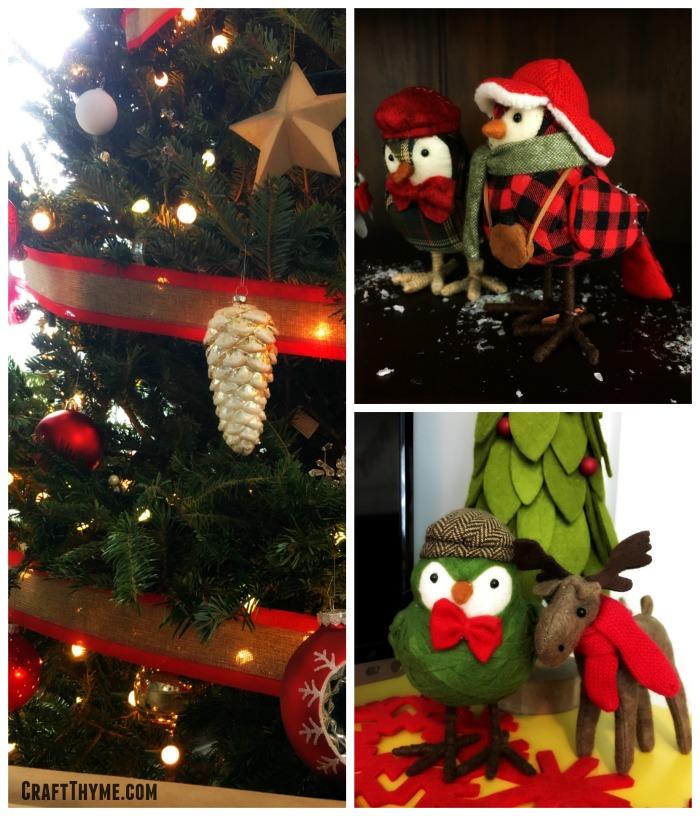 Felt Christmas Birds