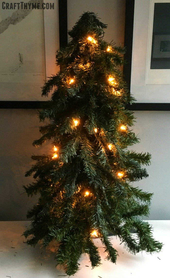 Sparse Christmas tree in need of thickening