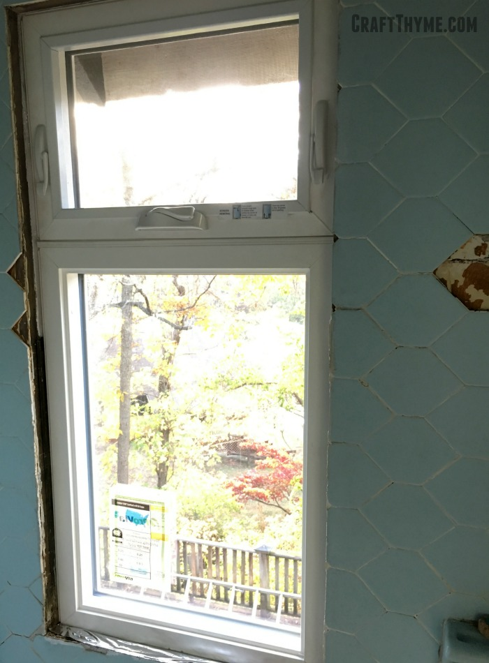 Tile loss from replacement windows