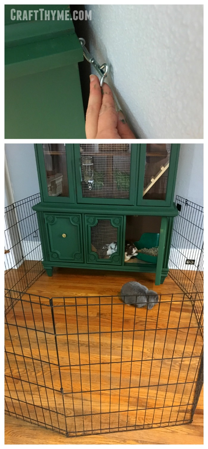 Details of additional rabbit play space on our indoor rabbit hutch