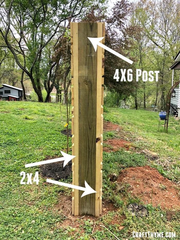 Posts for composting fence