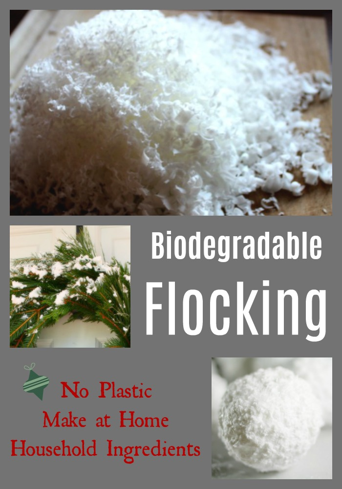 Tutorial on how to create your own flocking at home.  You can use household ingredients to create a biodegradable flocking for your Christmas and winter decorations.