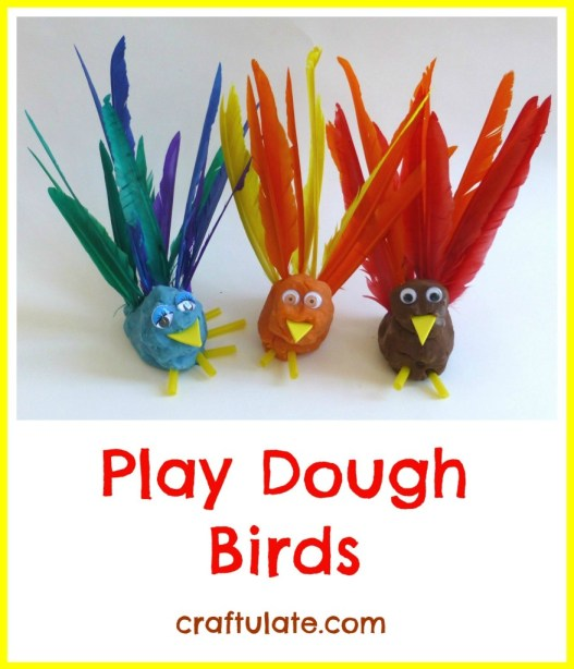 Play Dough Birds [Fine Motor Fridays]