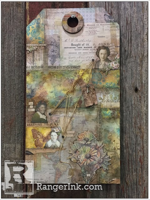 A tag made with Distress Oxide Inks by Paula Cheney