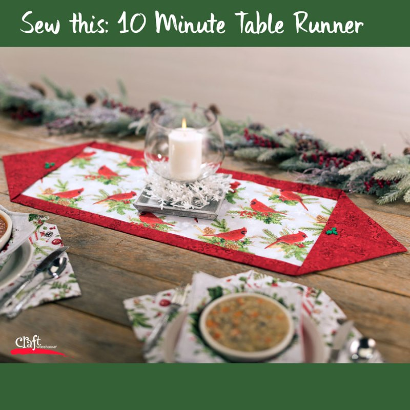 Sew a Ten Minute Table Runner for Christmas
