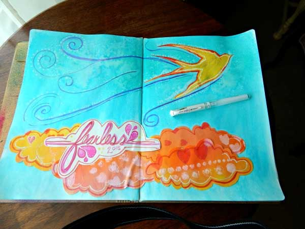 Starting an Art Journal at Craft Warehouse