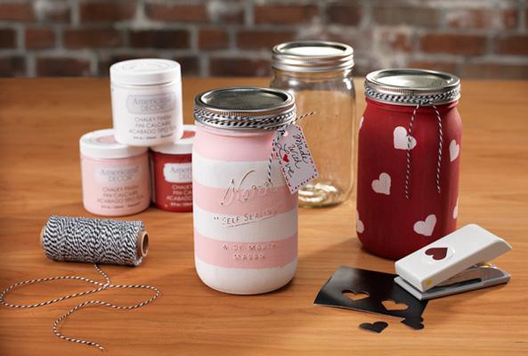 i heart canning jar chalkboard paint jar