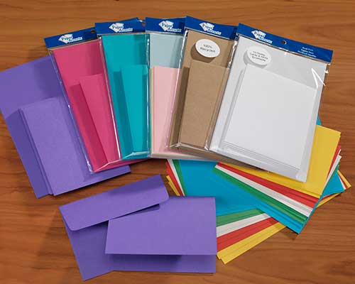 8 and 10 count Card and Envelope packs