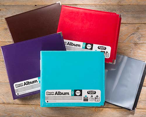 """We R Memory Keepers, 12"""" x 12"""" Faux Leather Scrapbooks"""