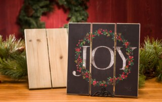 "Slat Wood ""JOY"" Wall Decor"