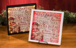 Light UP Santa Shadow Box