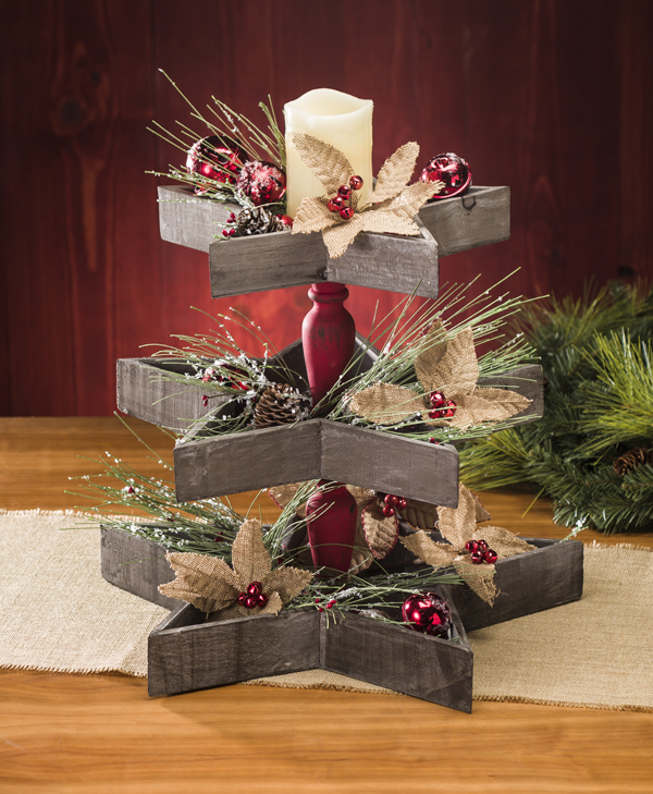 Wood Star Tiered Trays