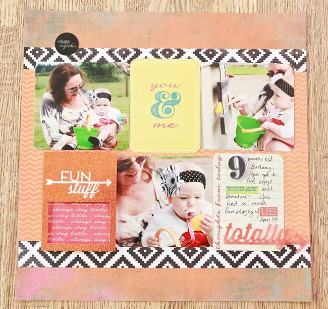 Using Project Life Cards On A Traditional Scrapbook Page Craft