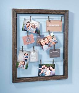 Distressed Clothes Pin Frame