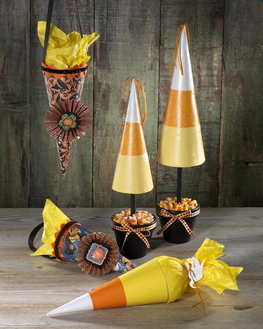 Paper Mache Halloween Cones