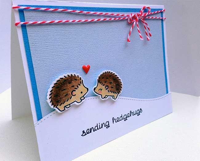 Lawn Fawn Sending Hedgehugs Card