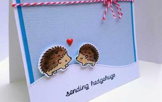 Lawn Fawn Sending Hedgehugs Card