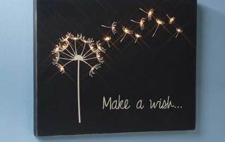 Make a Wish Wooden Canvas