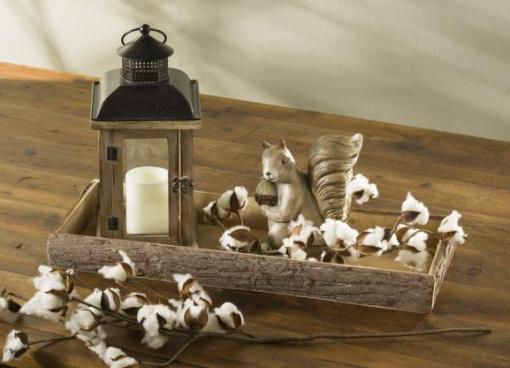 Lantern in cotton Log Tray