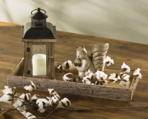 Lantern in cotton Log Tray