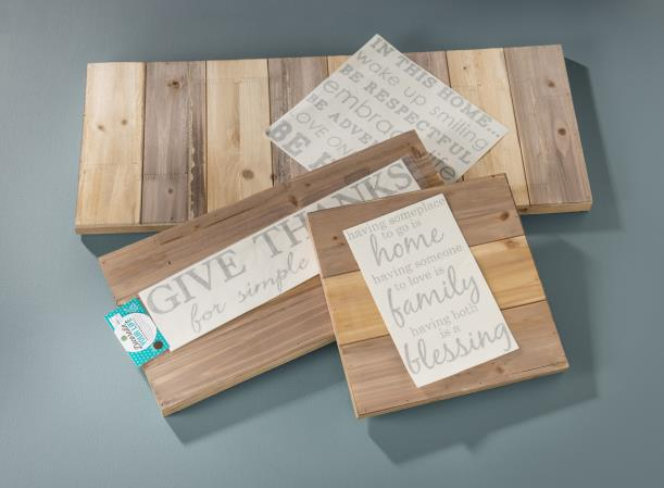 Wood Wall Hanging Planks - Supplies