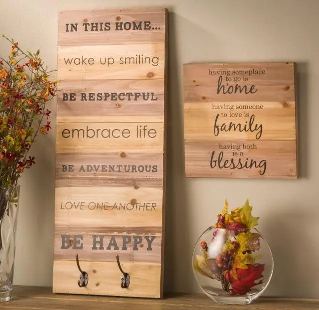 Wood Wall Hanging wood wall hanging planks | craft warehouse