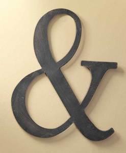 "Rustic Ampersand 18"""