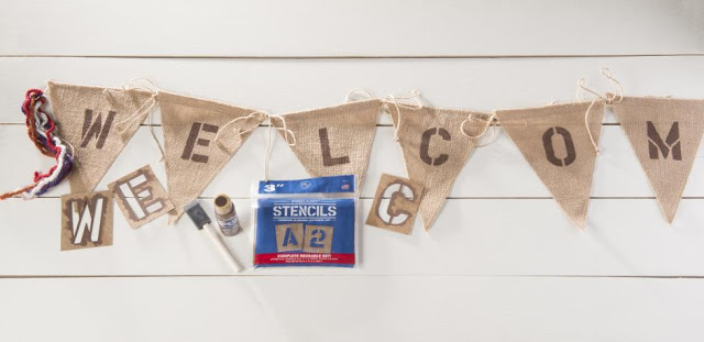 Burlap DIY Welcome Banner