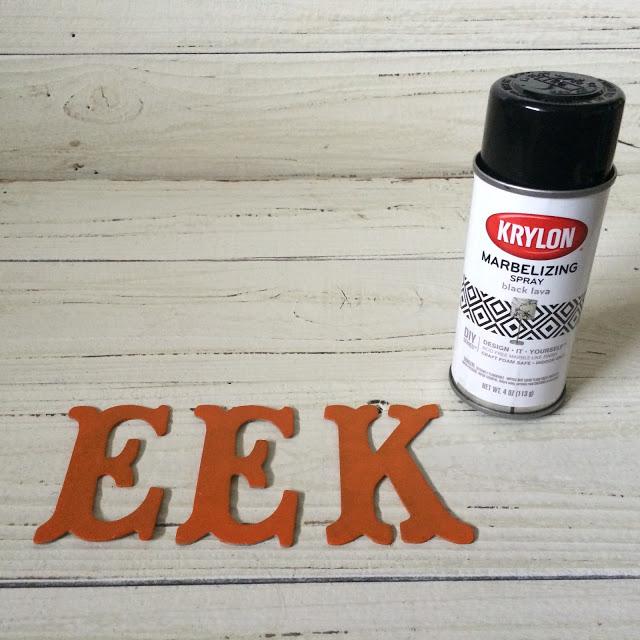 Eek Letters - Painted