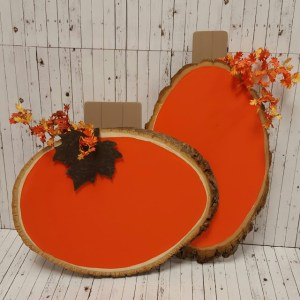 Log DIY Pumpkin