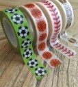 Sport related washi tape